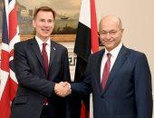 الرئيس العراقى يلتقى وزير خارجية بريطانيا ويشدد على تكثيف جهود ترسيخ السلام