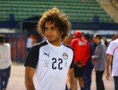 عمرو وردة يشارك فى مران منتخب مصر اليوم