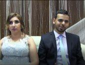 صور وفيديو.. نور القلوب يضىء خطوبة هشام وريموندا فى دار مكفوفين