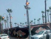 شكوى من أعمدة الكهرباء مضاءة نهارا بميدان سعد زغلول محطة الرمل الإسكندرية