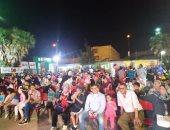 صور.. زحام كبير بمراكز الشباب بالإسكندرية لمشاهدة مباراة مصر و الكونغو