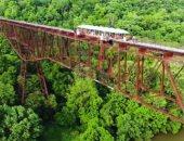 صور.. 4 أصدقاء يشترون جسراً لممارسة هواية القفز من المرتفعات