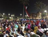 شاهد بالفيديو .. فرحة المواطنين فى المحافظات بهدفى مصر فى الشوط الأول