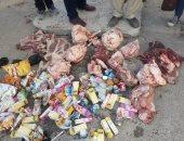 صور.. ضبط لحوم فاسدة وتحرير 12 محضر فى حملة بالسلام أول