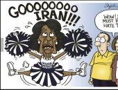 فى كاريكاتير يو إس نيوز.. مرشحة أمريكية للرئاسة تدعم إيران بسبب كرهها لترامب
