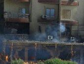 فيديو.. إصابة شخصين باختناق فى حريق هائل بأحدى الكافيهات بالغردقة