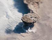 شاهد.. كيف ظهر بركان رايكوك الهائل من الوكالة الفضائية للفضاء؟