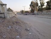 شكوى من تكسير شارع مسجد السلام بهضبة الأهرام وتراكم القمامة به