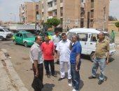 جهاز السادات يشن حملة للقضاء على المخالفات والإشغالات بالمدينة