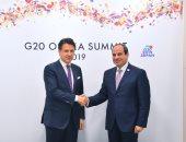 """السيسى يجدد لرئيس وزراء إيطاليا تأكيد سعى مصر للتوصل للحقيقة بقضية """"ريچينى"""""""