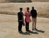 """قرينة رئيس بورندى تزور منطقة أهرامات الجيزة وأبو الهول """"صور"""""""