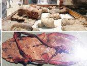 """حدث تاريخى على أرض الفيوم.. افتتاح أول مقبرة ملكية من العصور الوسطى بهرم اللاهون.. """"الآثار"""": العثور على """"شبشب"""" وكأس ملكى عمرهما 3 آلاف عام.. ووجوه خشبية وتمائم من 2500 سنة.. واكتشاف 21 مقبرة لحقب مختلفة (صور)"""