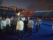صور .. وفد البرلمان يزور استاد الإسكندرية بعد تطويره
