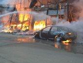 التحريات الأولية بحريق معرض الهرم: ماس كهربائى وراء نشوبه دون إصابات
