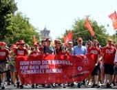 صور.. عمال المعادن بألمانيا يحتجون على طرق الإنتاج الصديقة للبيئة وتغير المناخ