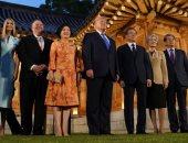 صور.. ترامب يلتقى رئيس كوريا الجنوبية فى البيت الأزرق عقب قمة العشرين