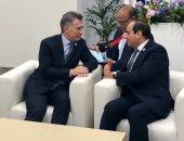 السيسى يبحث مع نظيره الأرجنتينى تعزيز العلاقات التجارية