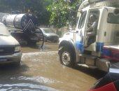 """استجابة لـ""""سيبها علينا""""..مياه القاهرة تنتهى من إصلاح كسر ماسورة بالزاوية الحمراء"""