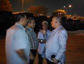 رئيس هيئة النقل العام بالقاهرة يشرف على خطوط نقل جماهير مباراة مصر وأوغندا