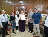 صور.. محافظ شمال سيناء يكرم الفائزين المتميزين بتدريب إبدأ مشروعك
