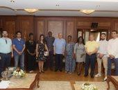 صور.. مميش يشيد بتنظيم أمم أفريقيا ويعرض مخططات التنمية والفرص الاستثمارية