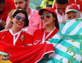 """جنوب أفريقيا ضد المغرب.. """"جميلات"""" أسود الأطلسى يزين استاد السلام """"صور"""""""