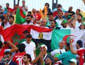 جماهير الجزائر تساند المغاربة أمام جنوب أفريقيا.. صور