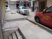 لحجز ركنة السيارات..شكوى من إشغالات طريق بشارع رئيسى فى باكوس بالإسكندرية