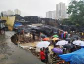 مصرع طالبين اثنين فى انهيار جدار جراء الانهيارات الأرضية بالهند