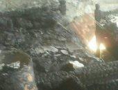 صور.. السيطرة على حريق أسفر عن تفحم محتويات منزل بقرية المساوية بإسنا