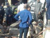 قارئ يشارك بصور لحادث تصادم سيارة نقل ثقيل بكمين قبل بوابة القاهرة
