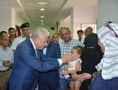 صور.. محافظ جنوب سيناء يتفقد القافلة الطبية لجامعة المنصورة بمستشفى أبو رديس
