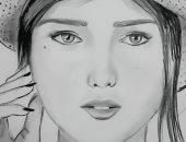 فاطمة تحلم بالشهرة وترسل رسوماتها لليوم السابع: أتمنى المشاركة فى المعارض