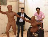 """صور.. تمثال للاعبين متحدى الإعاقة.. مشروع تخرج فى """"فنون جملية"""" بالمنيا"""