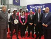 صور.. بعثة منتخب ناميبيا تغادر القاهرة بعد وداع بطولة كأس الأمم الأفريقية