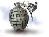 كاريكاتير.. إيران تشعل فتيل الحرب فى الشرق الأوسط