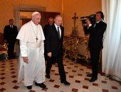 صور.. البابا فرنسيس يستقبل الرئيس الروسى فلاديمير بوتين
