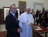 بوتين لبابا الفاتيكان: شكرا على وقتك.. وصحيفة: رئيس روسيا تأخر 40 دقيقة