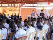 صور.. الأسد يلتقى الشباب السورى السريانى الكاثوليكى ببلدة صيدنايا بريف دمشق