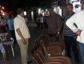صور .. حملة مسائية مكبرة لإزالة الاشغالات من كورنيش الإسكندرية