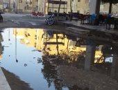 صور.. كسر ماسورة مياه فى منطقه المحمودية بحى السلام ثان
