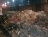 صور.. حملة مكبرة لرفع تلال القمامة بحرم السكة الحديد في المحلة