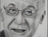قارئ يشارك صحافة المواطن بلوحة رائعة للفنان الراحل عزت أبو عوف