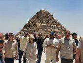 شاهد زيارة رئيس الجمعية العامة للأمم المتحدة لمنطقة آثار الهرم