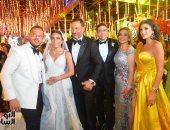 نجوم الفن والإعلام والمجتمع فى حفل زفاف ابن الفنان ماجد المصرى