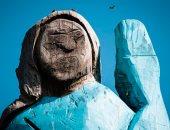"""كانت نيتهم كويسة.. تمثال خشبى لـ """"ميلانيا ترامب"""" فى سلوفينيا يثير الجدل"""