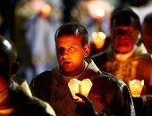 مسيرة الشموع فى الموكب الكاثوليكى السنوى فى بيلاروسيا
