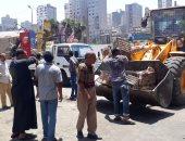 استجابة للمواطنين.. رفع إشغالات شارع المعهد الدينى شرق الإسكندرية (صور)