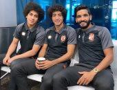 صالح جمعة ينشر صورة مع هانى ومارسيلو بمطار القاهرة قبل السفر لإسبانيا
