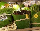 بدلا من البلاستيك..سوبر ماركت تايلاندى يستخدم أوراق الموز في تعبئة منتجاته